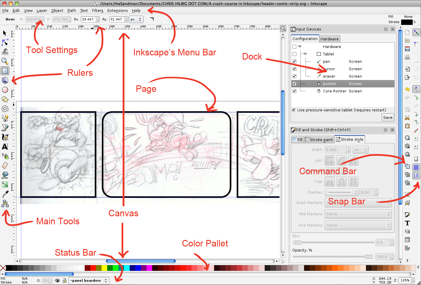 Drawing Lines With Inkscape : A crash course in inkscape chris hilbig beta edition