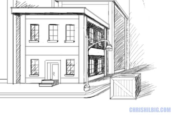 Yes you too can draw ch 9 one point perspective for My dream house drawing
